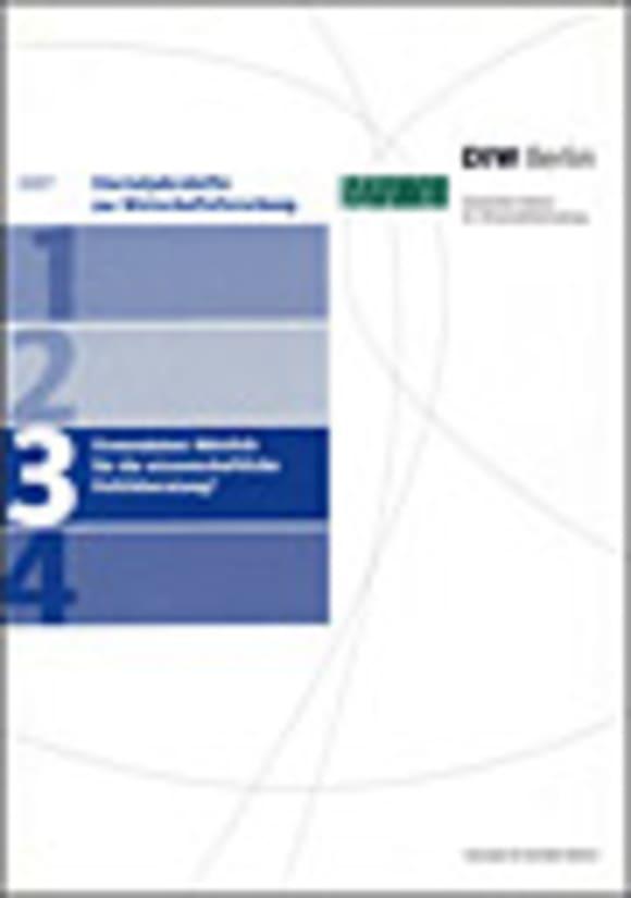Cover Firmendaten: Nützlich für die wissenschaftliche Politikberatung? (VJH 3/2007)