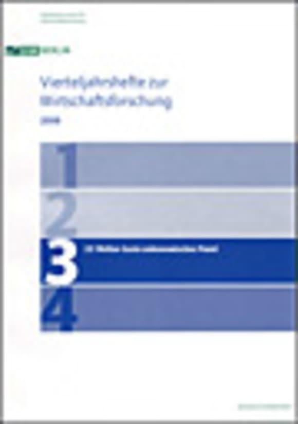 Cover 25 Wellen Sozio-oekonomisches Panel (VJH 3/2008)