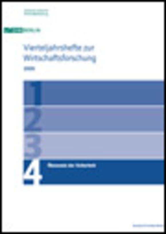 Cover Ökonomie der Sicherheit (VJH 4/2009)