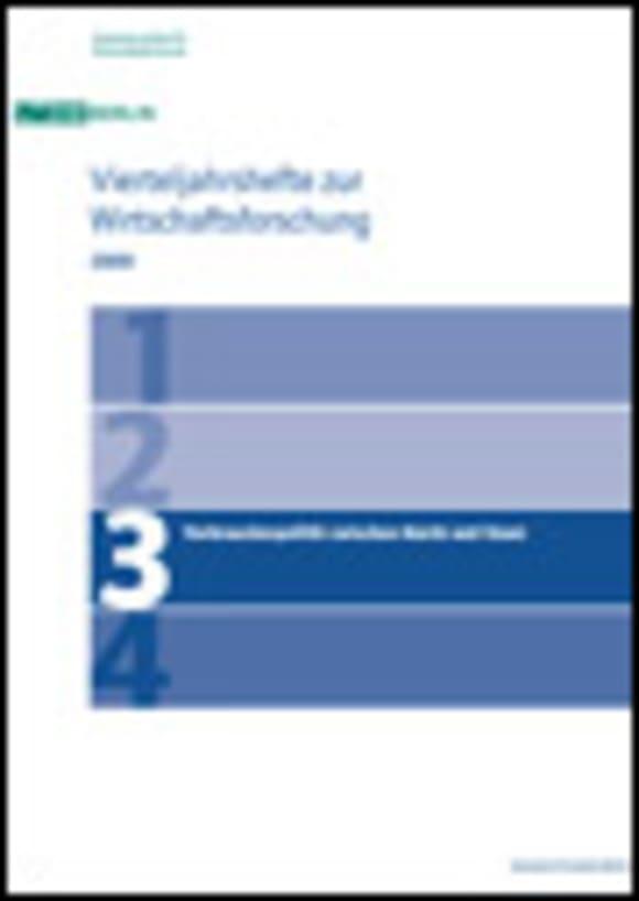 Cover Verbraucherpolitik zwischen Markt und Staat (VJH 3/2009)