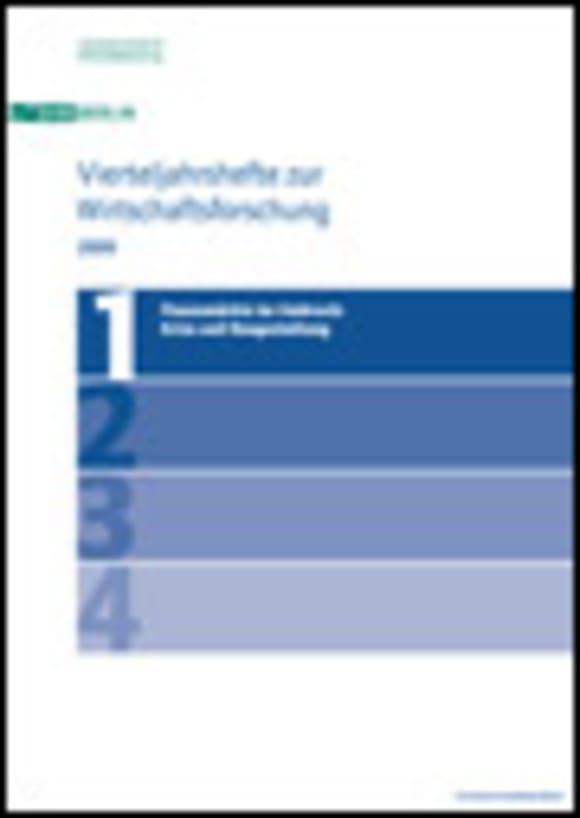 Cover Finanzmärkte im Umbruch: Krise und Neugestaltung (VJH 1/2009)