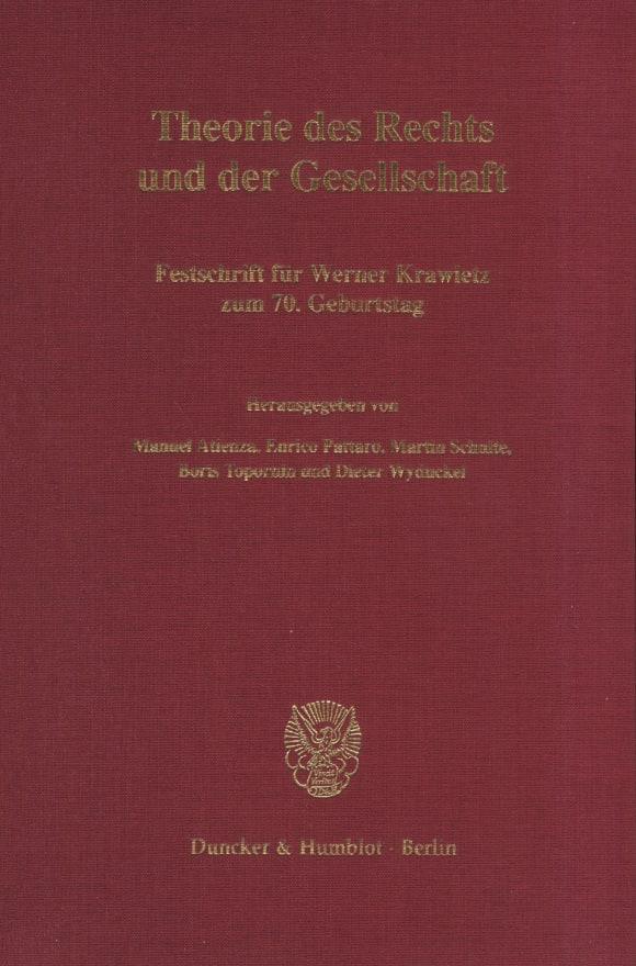 Cover Theorie des Rechts und der Gesellschaft