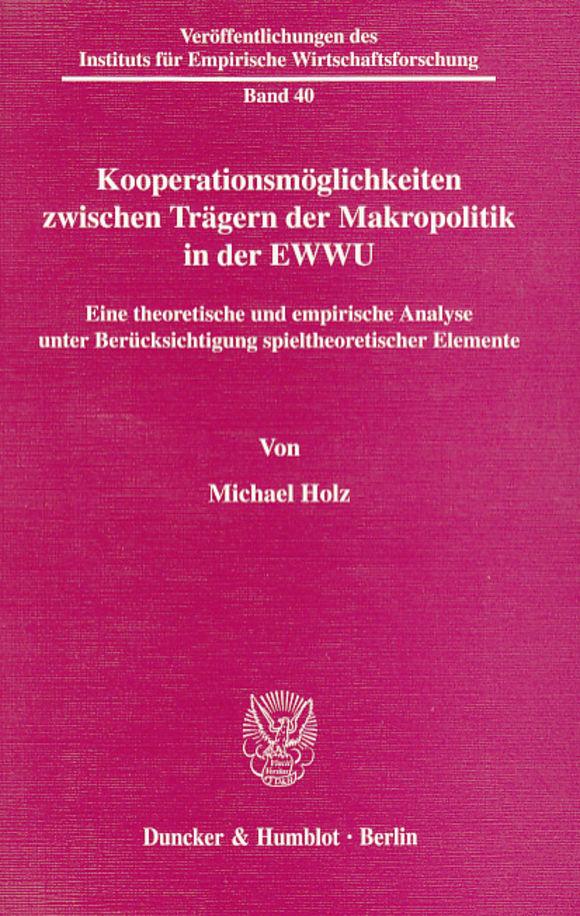 Cover Kooperationsmöglichkeiten zwischen Trägern der Makropolitik in der EWWU