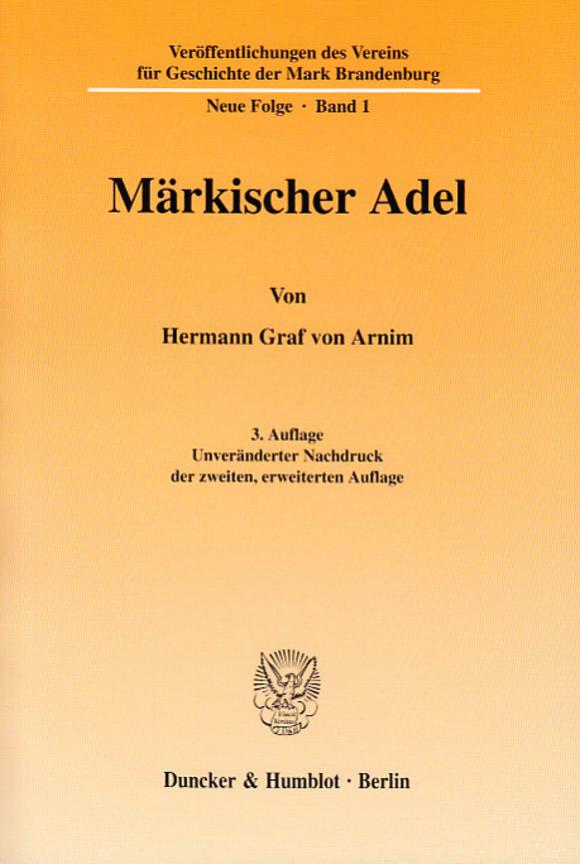 Cover Veröffentlichungen des Vereins für Geschichte der Mark Brandenburg. Neue Folge (GMB)