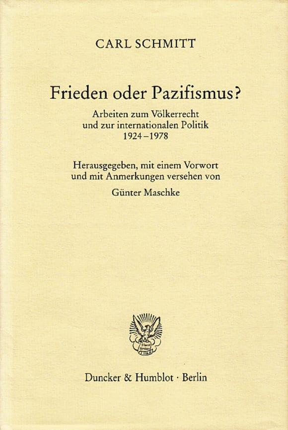 Cover Frieden oder Pazifismus?
