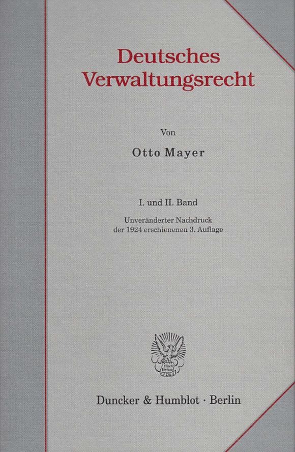 Cover Deutsches Verwaltungsrecht. I. und II. Band