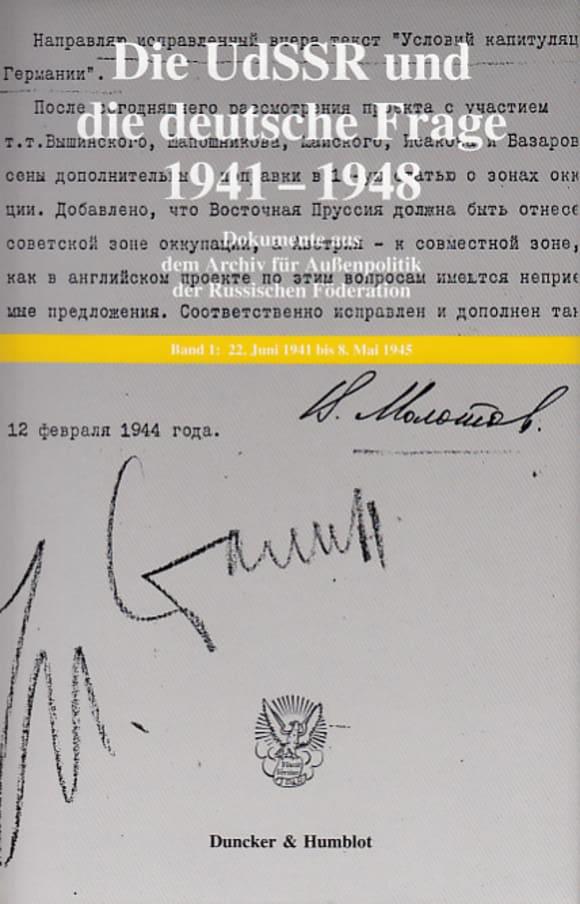 Cover Die UdSSR und die deutsche Frage 1941–1948