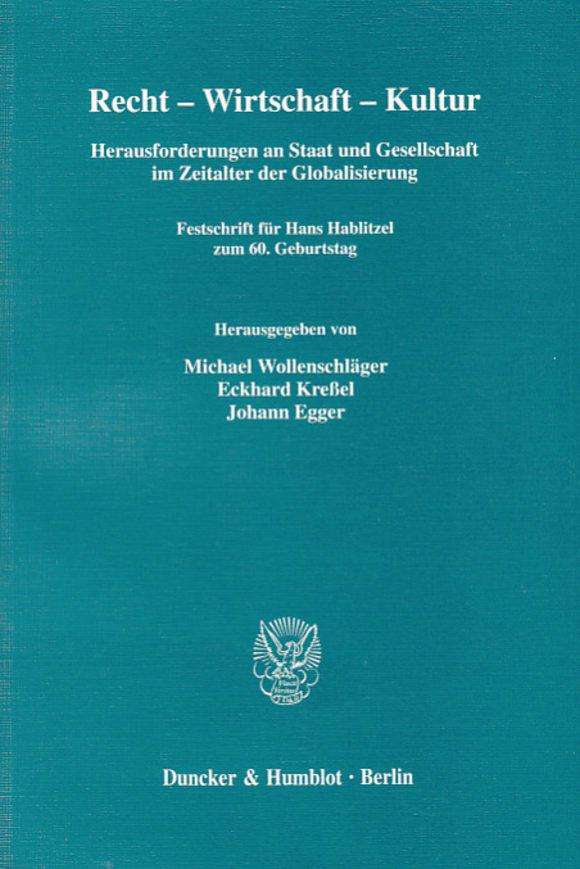 Cover Recht - Wirtschaft - Kultur