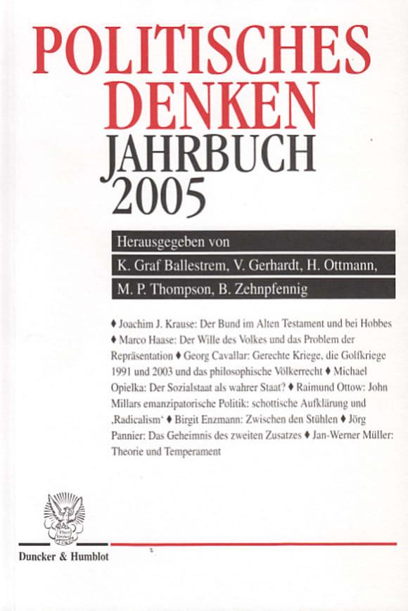 Cover Politisches Denken. Jahrbuch 2005