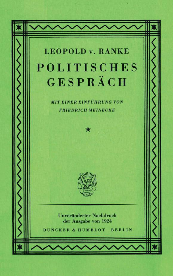 Cover Politisches Gespräch