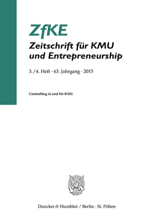 Cover Controlling in und für KMU (ZfKE 3–4/2015)