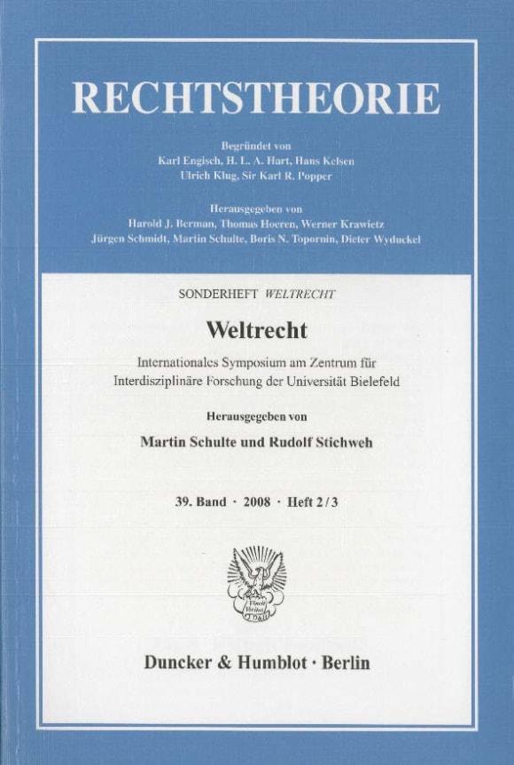 Cover Weltrecht (RT 2–3/2008)