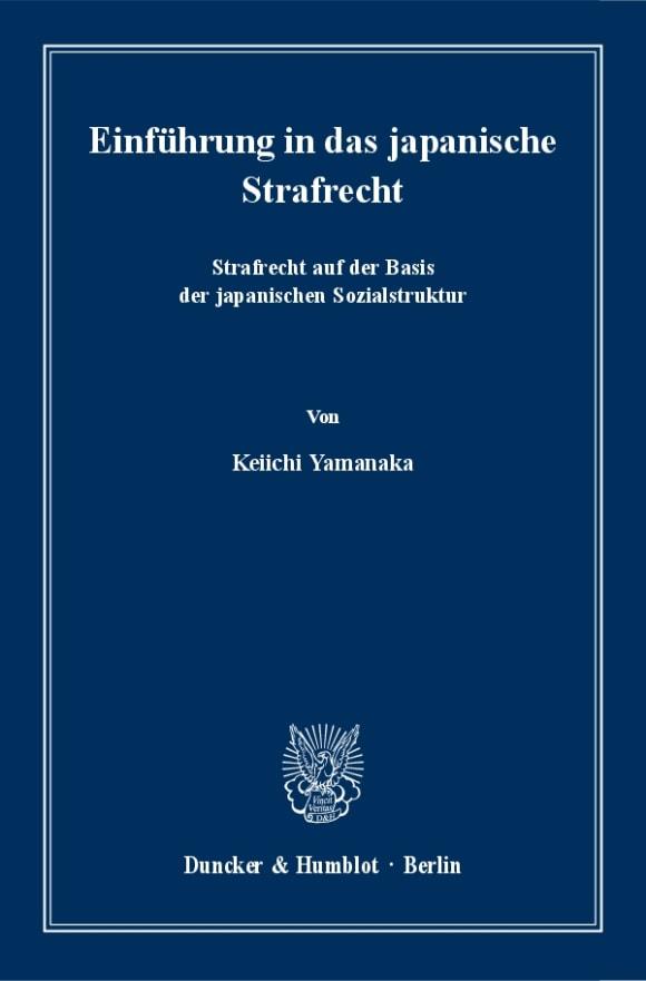 Cover Einführung in das japanische Strafrecht
