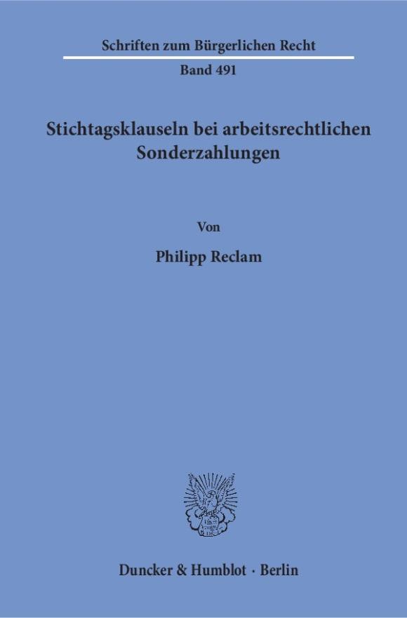 Cover Stichtagsklauseln bei arbeitsrechtlichen Sonderzahlungen