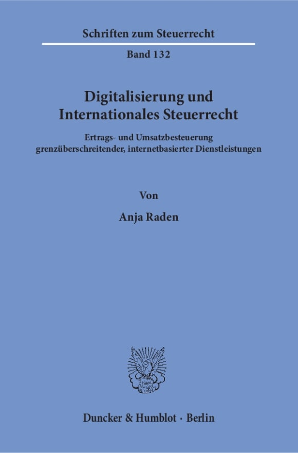 Cover Digitalisierung und Internationales Steuerrecht