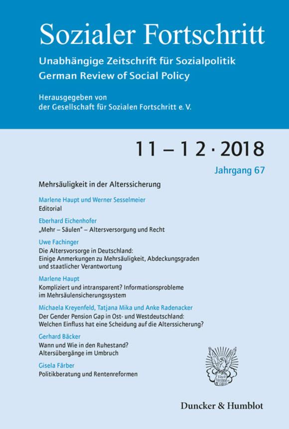 Cover Mehrsäuligkeit in der Alterssicherung (SF 11–12/2018)