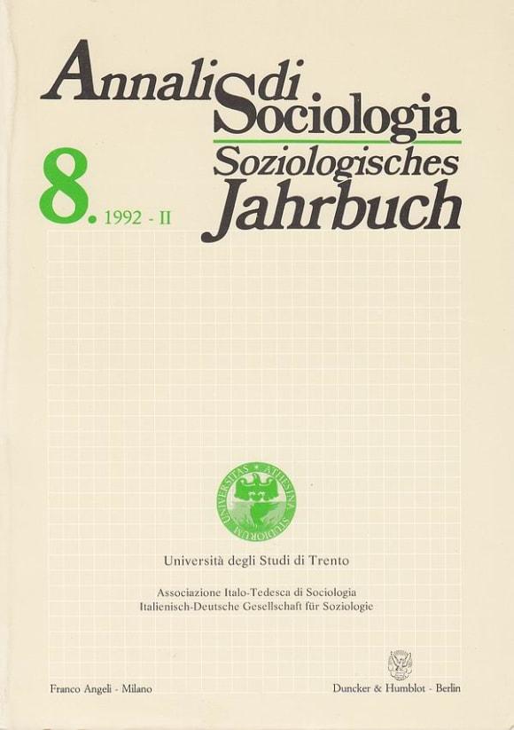 Cover Annali di Sociologia / Soziologisches Jahrbuch