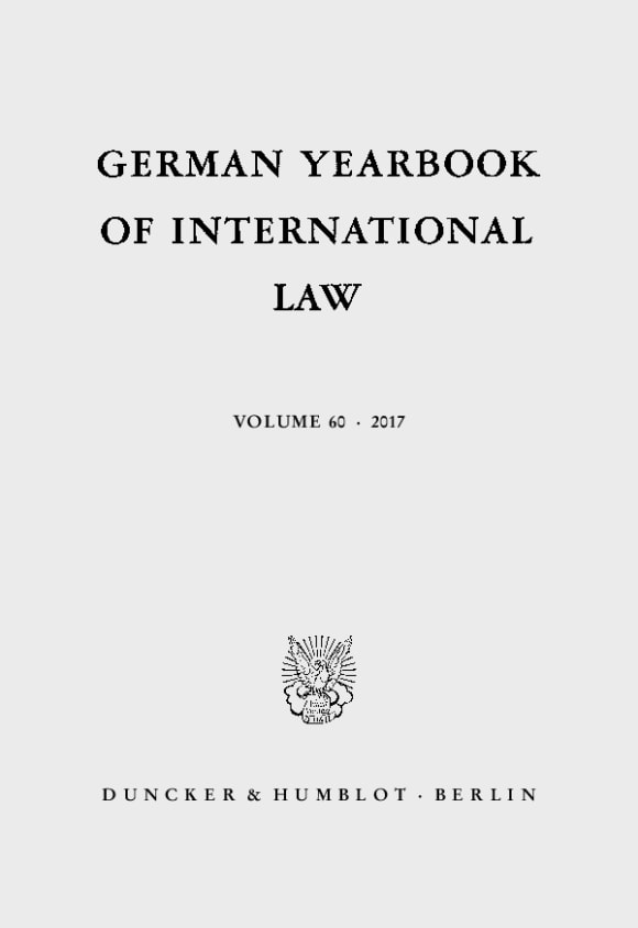 Cover German Yearbook of International Law / Jahrbuch für Internationales Recht (GYIL)