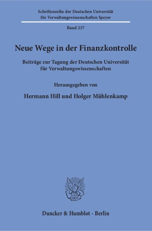 Cover Neue Wege in der Finanzkontrolle