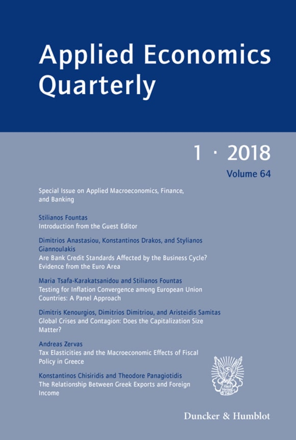 Cover Special Issue on Applied Macroeconomics, Finance, and Banking (AEQ 1/2018)