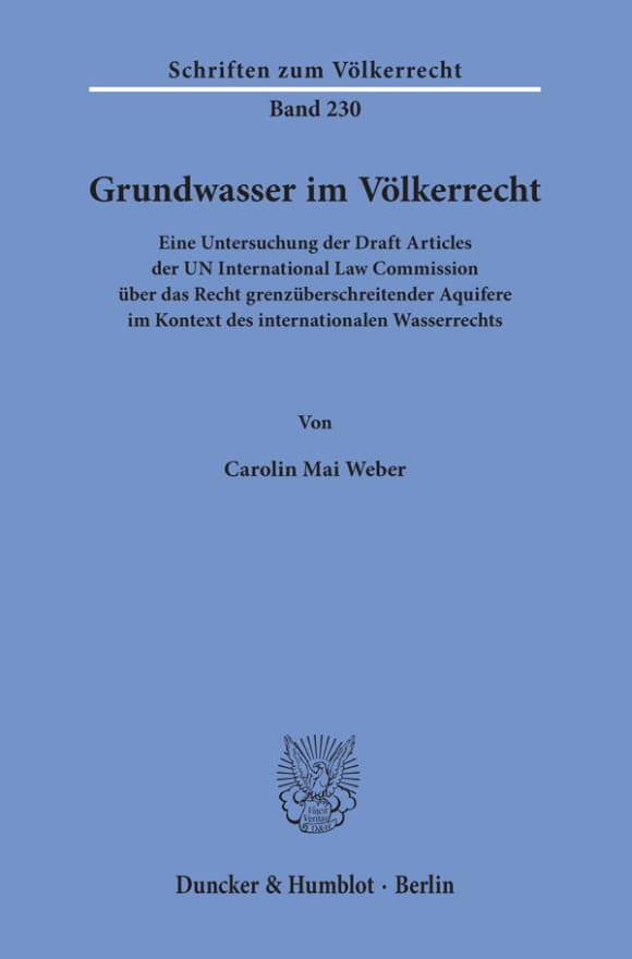 Cover Grundwasser im Völkerrecht