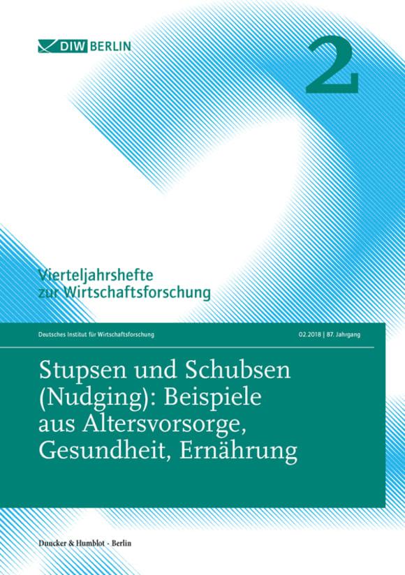 Cover Stupsen und Schubsen (Nudging) (VJH 2/2018)