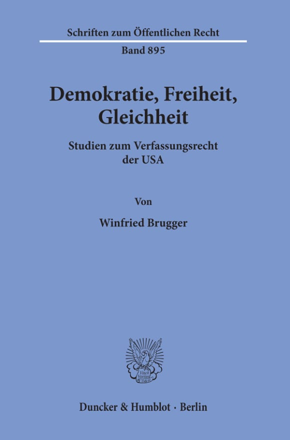 Cover Demokratie, Freiheit, Gleichheit