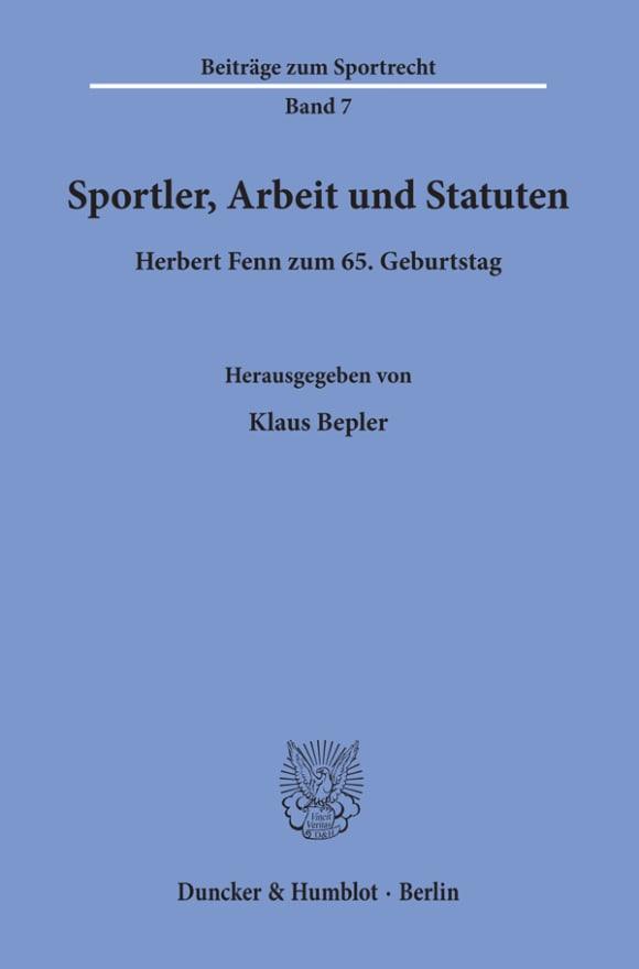 Cover Sportler, Arbeit und Statuten