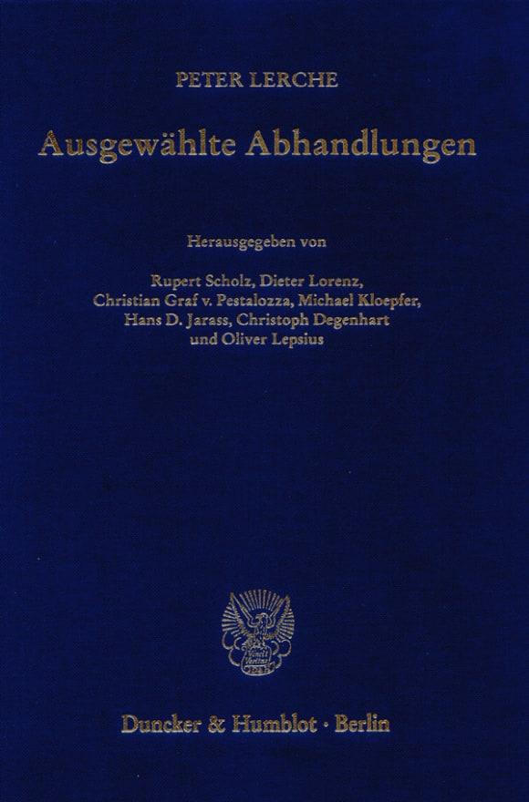 Cover Ausgewählte Abhandlungen