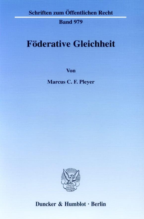 Cover Föderative Gleichheit
