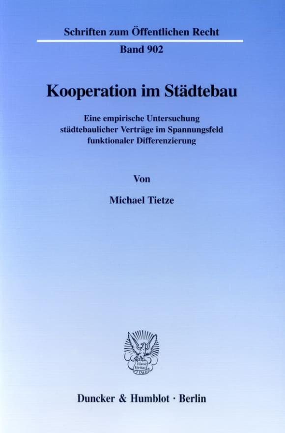 Cover Kooperation im Städtebau