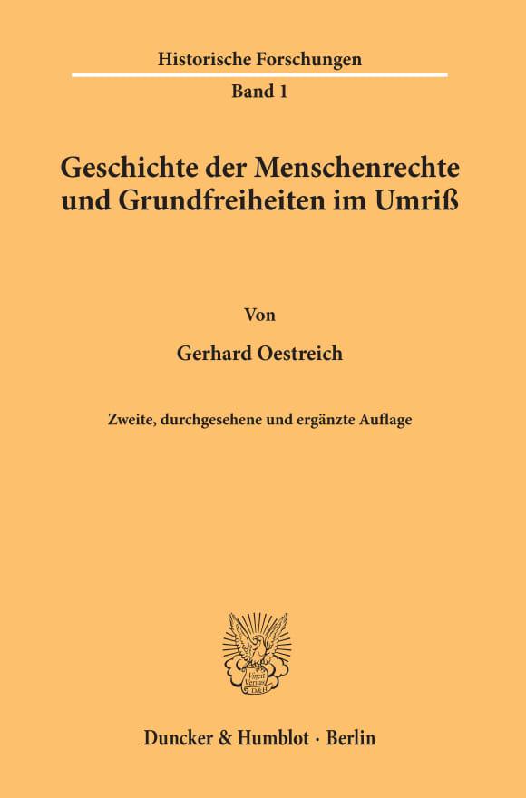 Cover Geschichte der Menschenrechte und Grundfreiheiten im Umriß