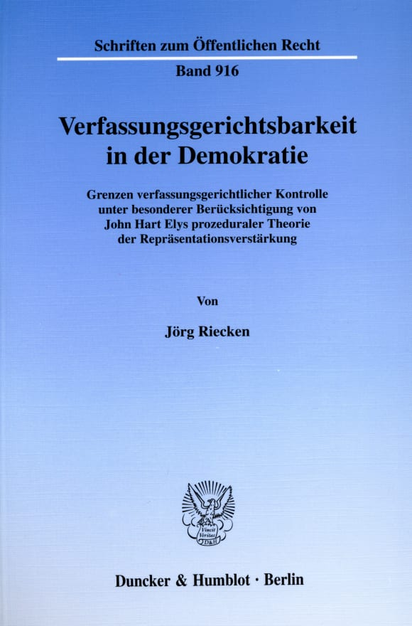 Cover Verfassungsgerichtsbarkeit in der Demokratie