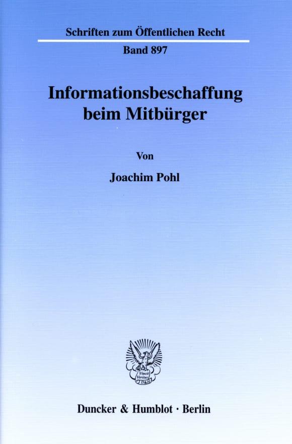 Cover Informationsbeschaffung beim Mitbürger