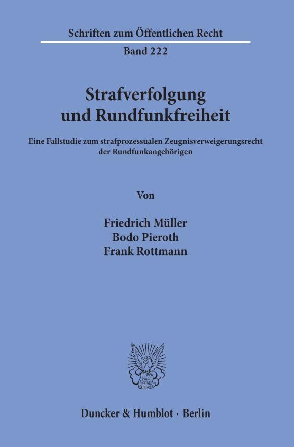 Cover Strafverfolgung und Rundfunkfreiheit