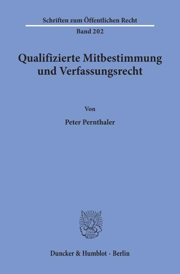 Cover Qualifizierte Mitbestimmung und Verfassungsrecht