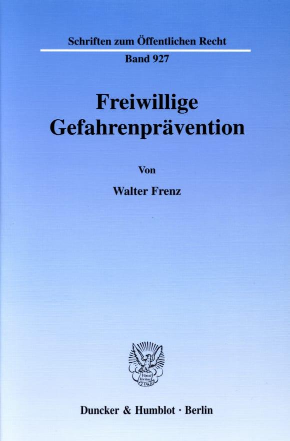 Cover Freiwillige Gefahrenprävention