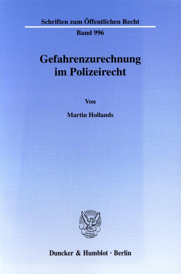 Cover Gefahrenzurechnung im Polizeirecht