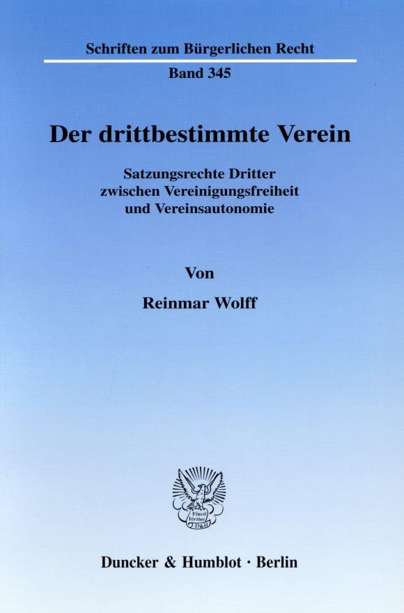 Cover Der drittbestimmte Verein