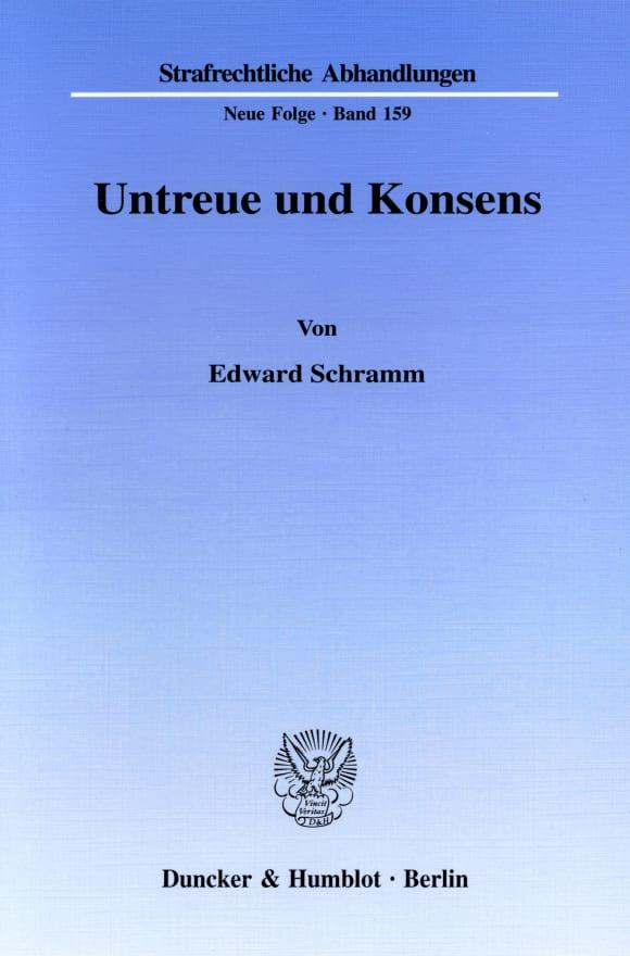 Cover Untreue und Konsens
