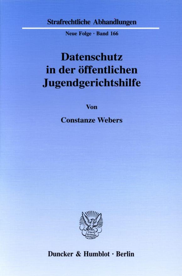 Cover Datenschutz in der öffentlichen Jugendgerichtshilfe