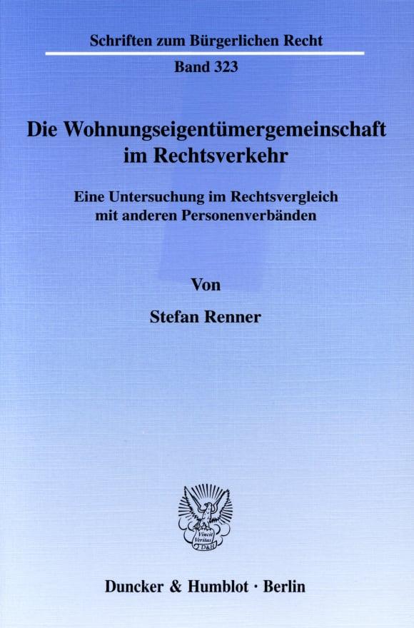 Cover Die Wohnungseigentümergemeinschaft im Rechtsverkehr