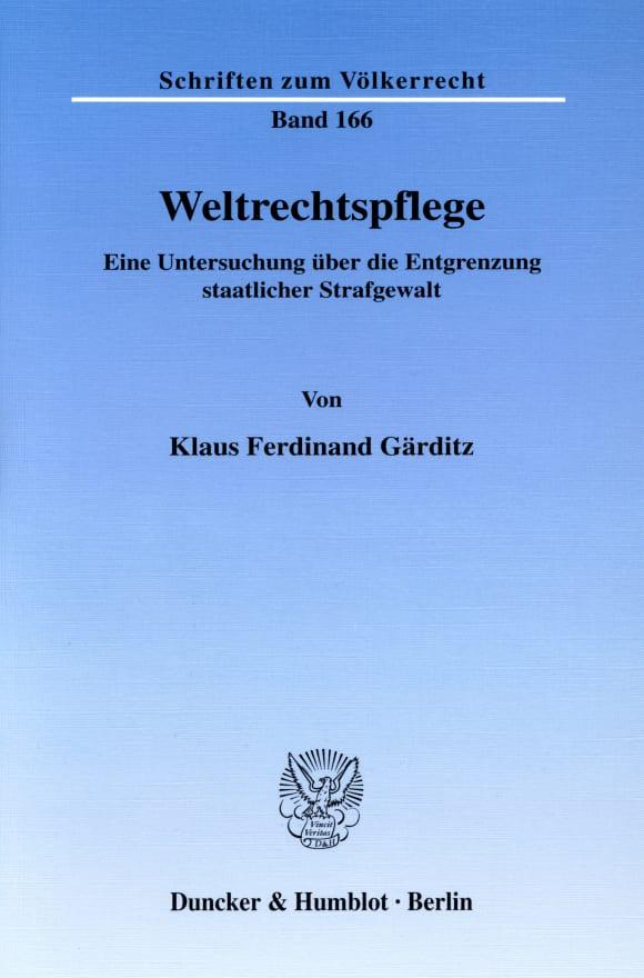 Cover Weltrechtspflege