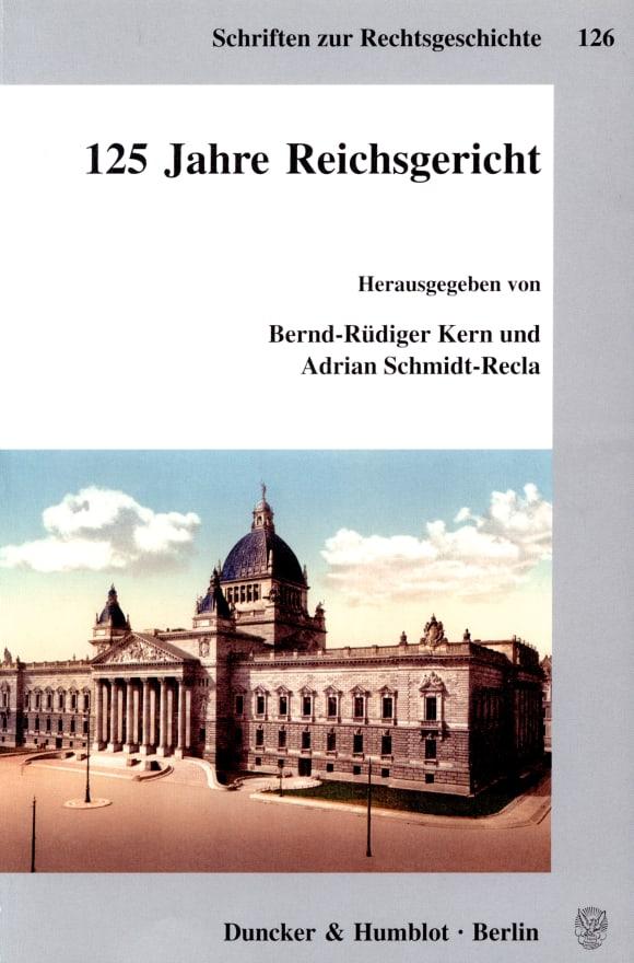 Cover 125 Jahre Reichsgericht