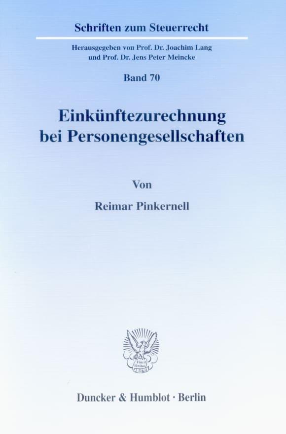 Cover Einkünftezurechnung bei Personengesellschaften