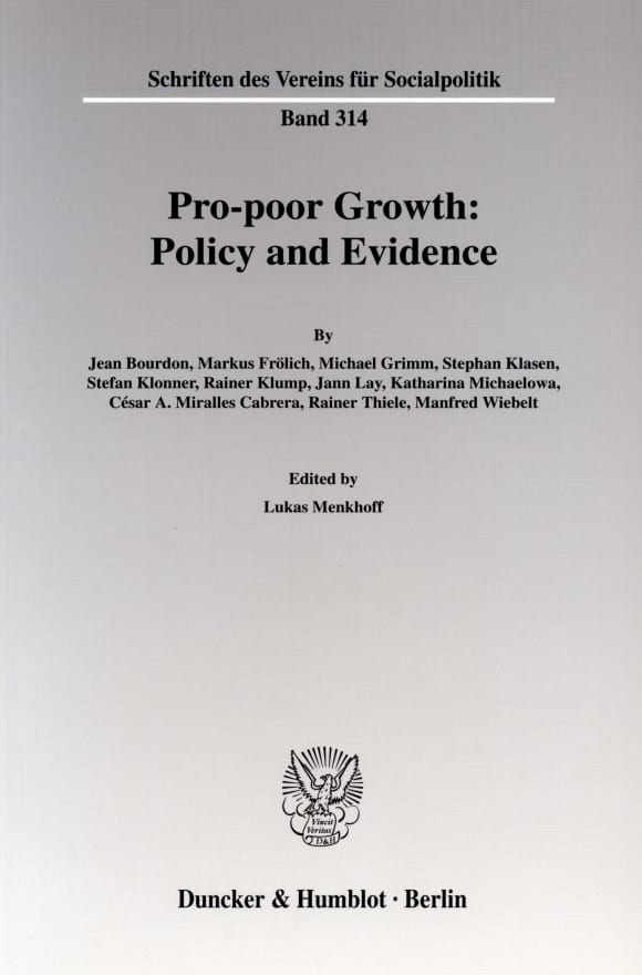 Cover Pro-poor Growth: Policy and Evidence