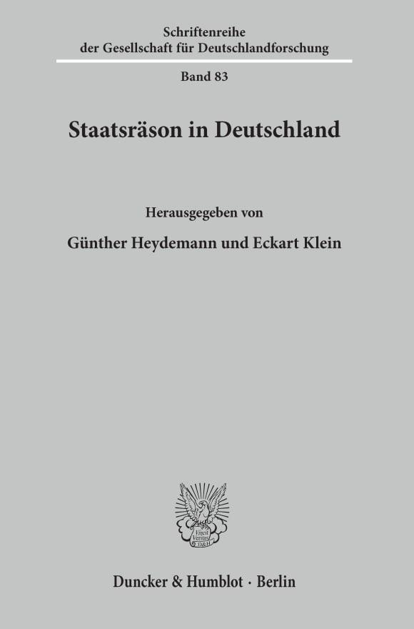Cover Staatsräson in Deutschland