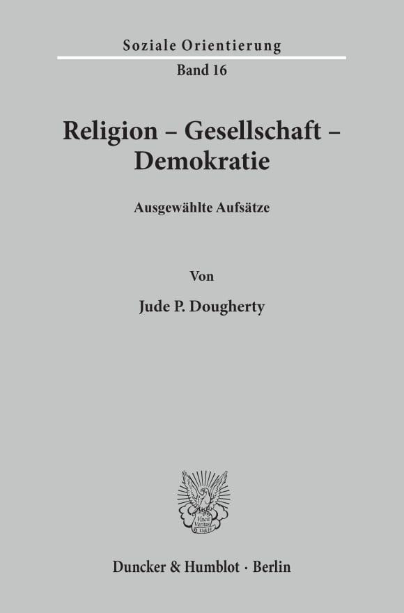 Cover Religion - Gesellschaft - Demokratie