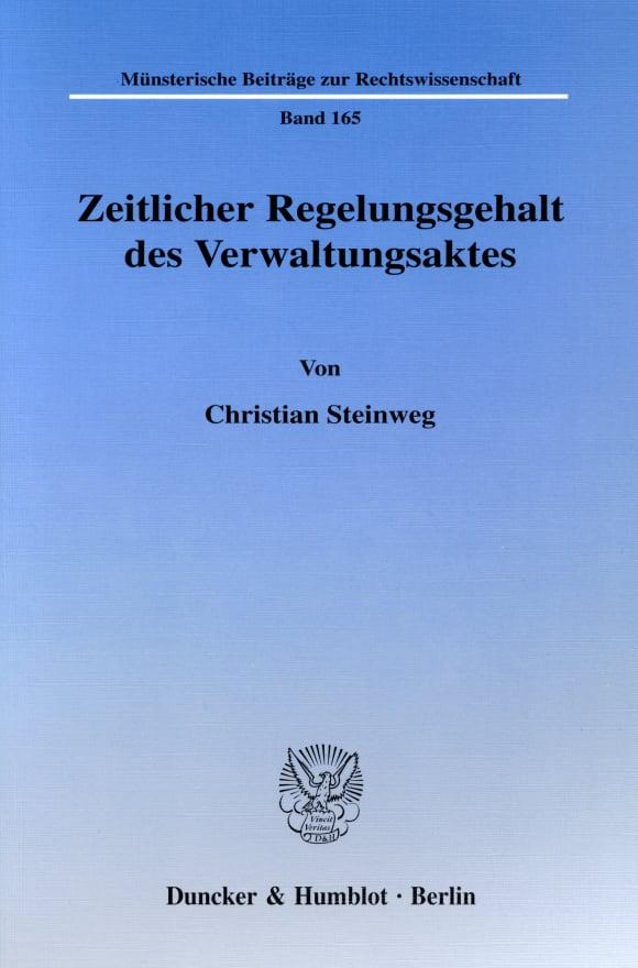 Cover Zeitlicher Regelungsgehalt des Verwaltungsaktes