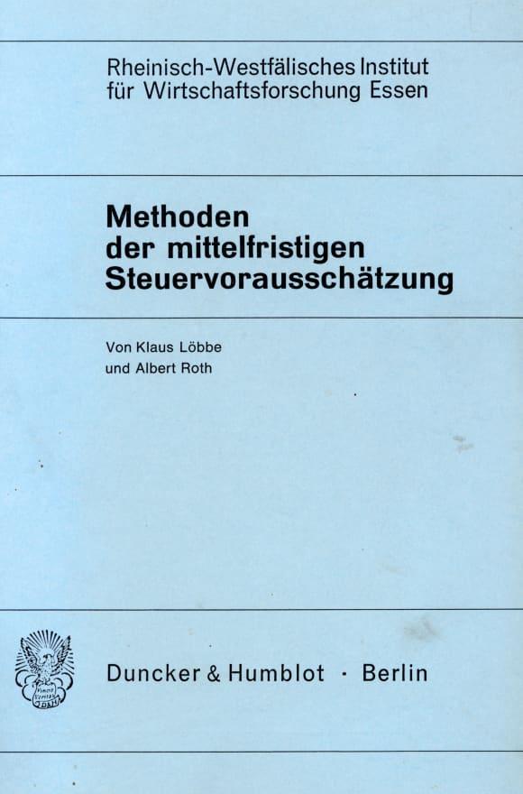 Cover Methoden der mittelfristigen Steuervorausschätzung